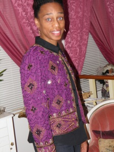 Me in my Sequin jacket